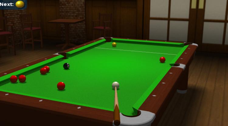 juego de snooker: