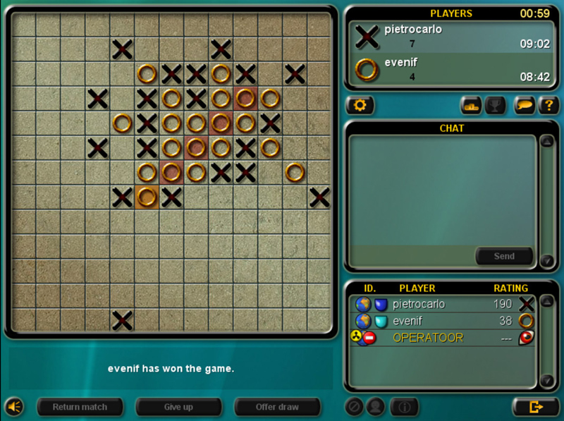 Line Drawing Game Multiplayer : Play go moku online crosses and noughts five in a row game